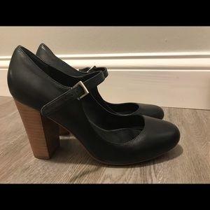 Black Mary Jane Leather Style Shoes Charles David